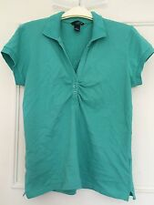 H&M Green Short Sleeve Fitted Polo T Shirt Size L Large