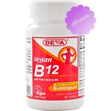 Deva, Vegan, B12, Sublingual, 90 Tablets Folic Acid & B6