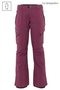 686 2021 GLCR GEODE THERMAGRAPH WOMEN'S SNOWBOARD PANTS, PLUM, Sm, Md, Lg, NEW