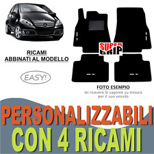 TAPPETINI AUTO SU MISURA PER MERCEDES CLASSE A W169 IN MOQUETTE + 4 RICAMI EASY