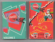 COCA COLA IS THE MUSIC - VOLUME 1 & 2  CASSETTE TAPES  EX++  10 tracks per Tape