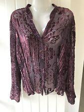 Ladies Debenhams Collection Pretty Purple Top (Size 18)