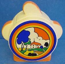 MOORLAND POTTERY ART DECO HUNTLEY COTTAGE PATTERN SUGAR BOX WITH LID OR SUCRIER
