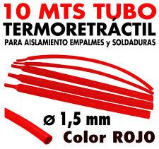 10 Mts Tubo termoretráctil rojo Ø 1,5 mm > Protección soldaduras y conexiones.
