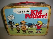 TIN LUNCHBOX AND THERMOS, WEE PALS KID POWER, WOMENS LIB, CARTOONS, 1973-74