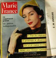 Marie-France n°320 - 1951 - Les chapeaux du renouveau - Broderies d'or - Patro
