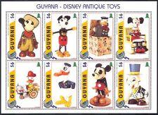 Guyana 1996 Antique Disney Toys/FIRE FIGHTER/Mickey/Donald/Cartoons 8v sht b432