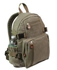 Vintage Compact Backpack - Rucksack - OD, Black, Woodland Camo, Khaki, Brown