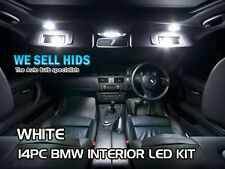 14pc BMW 3 SERIES LED INTERIOR KIT - FULL SET WHITE UPGRADE sunvisor roof  foot