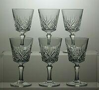 LEAD CRYSTAL CUT GLASS LIQUEUR GLASSES SET OF 6