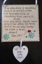 Handmade Personalised True Friend Friendship Special Thank You Poem Gift Plaque