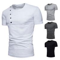 Leisure Men's Crew Neck Slim Fit T-shirt Men Casual Basic Tee Shirts Dress Tops