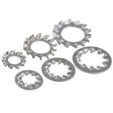 Shakeproof Serrated Internal/External Tooth Star Lock Washers M3-M10 Zinc Plated