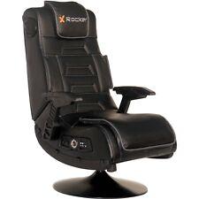 NEW X Video Rocker Pro Series Pedestal 2.1 Wireless Audio Gaming Chair Black