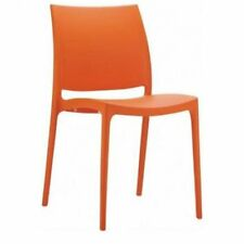 "Urban Designs Maya Dining Chair - (Orange) (32""H x 17.3""W x 20""D)"