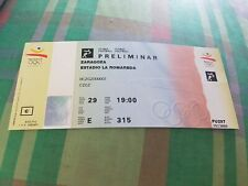 Unused ticket olympic games 1992 USA v poland soccer football barcelona