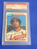 1980 Topps Silvio Martinez St. Louis Cardinals #496 PSA 8 NM-MT SET BREAK