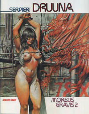 Morbus Gravis 1 & 2 Druuna Serpieri 1991 Heavy Metal books 1st Print Catalan EB6