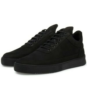 Filling Pieces  Black  Suede Made in Portugal handmade shoes perfect cond. US 13