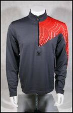 $95 NEW SPYDER ANGLE BASE LAYER T-NECK DRY WEB SKI SHIRT MENS M L SLATE