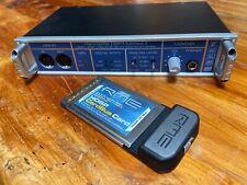 RME Hammerfall Multiface II 8 Channel 24/96 ConverterSNR 111dbw/ CardBus Card