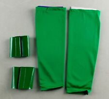 Green Kids Pro Wrestling Arm Band & Cuffs Sleeve Costume Wrestler WWE wwf tna