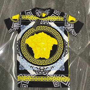 Summer'21 Brand New With Tags MEN'S VERSACE  BAROQUE PRINT T-SHIRT Size M to 3XL