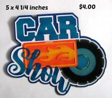 CAR SHOW TITLE  everyday  boy girl scrapbook premade paper piecing by Rhonda