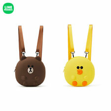 Official Authentic Line Friends Brown Bear Sally Silicone Shoulder Bag Backpack
