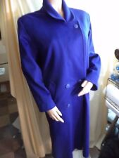 Capri Womans Coat Purple 100% Wool  Acetate Feel Liner Size 6 VGC Classy Warmth