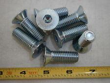 Machine Screws 1/2-13 x 1-1/2 Flat Socket Cap Alloy Steel Zinc Lot of 8 #688