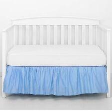 Crib Skirt Dust Ruffle Nursery Bedding for Baby Toddler Boys pastel blue Tillyou