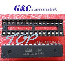 Atmega328P-Pu Dip-28 Microcontroller Ic Atmel New + Dip Socket Atmega328P