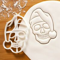 Santa Claus Skull Cookie Cutter | macabre gothic Merry Christmas anatomy biscuit