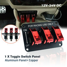 DC12V 20A 3 Toggle Switch Panel Cover Red Light Switch Trucks for Racing Car Van