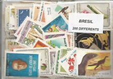 Lot de 200 timbres du Bresil