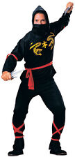 Black Ninja Halloween Men Costume - Large ( Fits Jacket Size 38-44 ) 55026