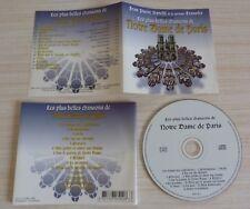 CD LES PLUS BELLES CHANSONS DE NOTRE DAME DE PARIS 14 TITRES JEAN PIERRE SAVELLI