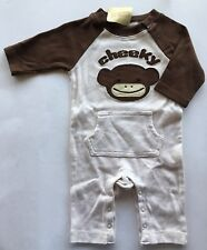 NWT Gymboree Crazy 8 Up to 7 lbs Brown Cheeky Monkey Romper Preemie
