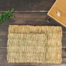 Rabbit Grass Chew Mat Small Animal Hamster Guinea Pig Cage Bed House PadCWDESJD