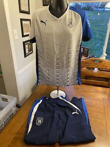 Puma Track Suit ITALIA FGIC Soccer Blue White Men's Size Med EUC