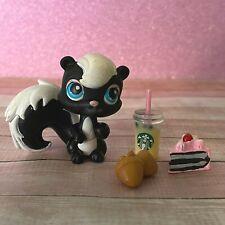 100% AUTHENTIC Littlest Pet Shop LPS #85 Black Skunk w Accessories