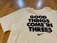 Nike Good Things Come In Threes t shirt white black NBA All Star LeBron KD 7 XXL