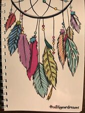 2018 diary colourful dreamcatcher #  A5
