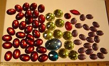 Lot of 68 Mixed Vintage Large LUCITE JEWELS for Assemblage Art - Bright