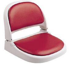 New Proform Boat Seat attwood Marine 7012-104-4 Gray Frame Red Vinyl Onsert 18-1