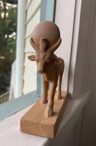 Apis Bull Egyptian God  Of Strength  Bull  Figurine  12cm High