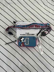 Marc Jacobs Snapshot Crossbody Bag X Peanuts Blue Red BNWT Brand New With Tags