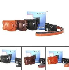 Leather Camera case bag Cover For Canon Powershot S120 S110v S110 S200