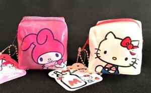 Hello Kitty  My Melody Pouch Clear Cube Square Zipper SANRIO